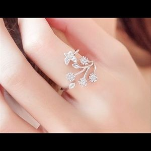 🦋Back In Stock Butterfly 🦋 Wings CZ Ring Fa…